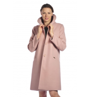 TK 18/10 - delší dámský flaušový kabát
