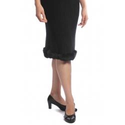 Ermitáž - dámská sukně s kožíškem