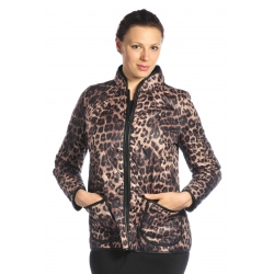 D3543 - dámský kabátek  s tygřím vzorem