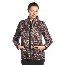 D3543 - dámská bunda s tygřím vzorem