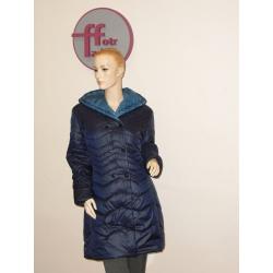 Izabela - delší dámský kabát tmavě modrý