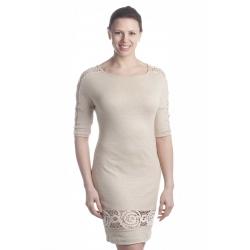 D4124 - dámské šaty len