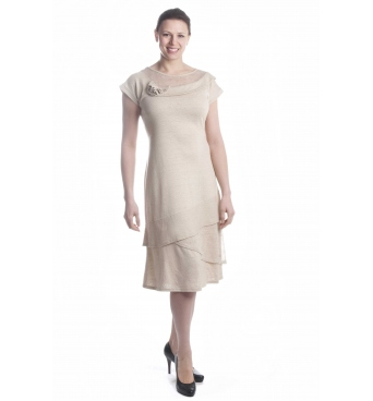 D4143 - dámské šaty len společenské