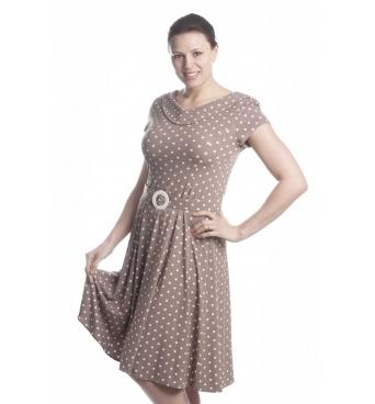 TE-1 -šaty retro puntík
