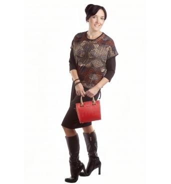 D4337 - dámské šaty s barevným kabátkem
