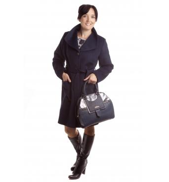 TP 3/7 - dámský flaušový kabát tmavě modrý