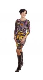 MD 1306 - dámské šaty žlutý květ