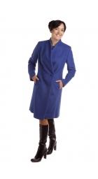 TP 1/13 - dámský flaušový kabát královská modř
