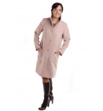 TP 5/R - dámský flaušový kabát růžový