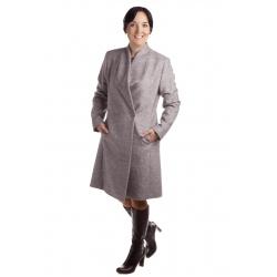 TP 1/1 - dámský flaušový kabát světle šedý