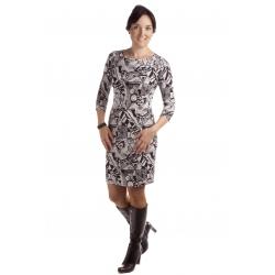 MD 1446 - dámské šaty černobílé