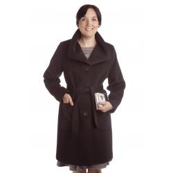 TP 3/6 - dámský flaušový kabát černý