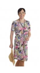 MD-1546 - dámské šaty barevné květy