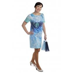 MD1529 - dámské šaty modrozelené
