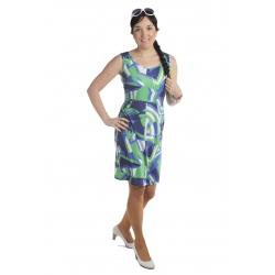 MD1541 - dámské šaty zelenomodré