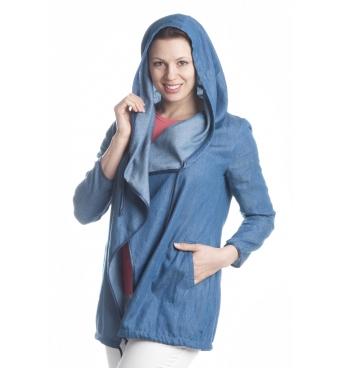 D4137 - dámský kardigan s kapucí