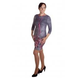 MD1635 - dámské šaty růžový oleandr