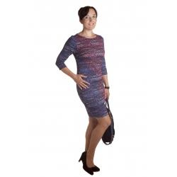 MD1588 - dámské šaty květinový vzor