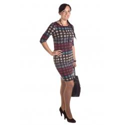 MD1681  - dámské šaty červené bublinky