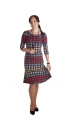 MD1683 - dámské šaty červené bublinky I