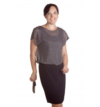 MD1686 - dámské společenské šaty s kabátkem