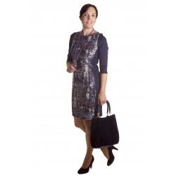 MD1604 - šaty modrý vzor
