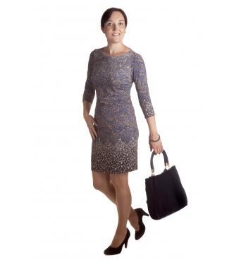 MD1589 - dámské šaty květinový vzor