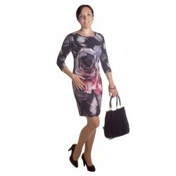 MD1590  - dámské šaty růže