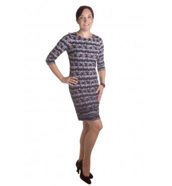 MD1587  - dámské šaty puntíky