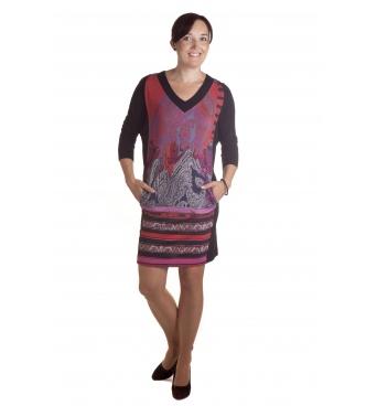 D4796   - dámské šaty s květinovým vzorem