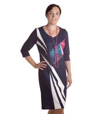 D4778 - dámské šaty safír