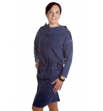 Milena  - dámské šaty džínové