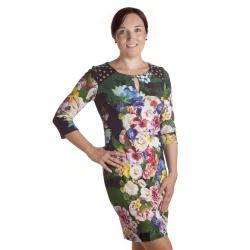 Bukiet - dámské šaty barevné květy