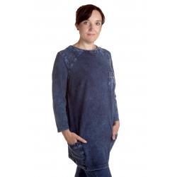 Lena - dámská dlouhá džínová tunika