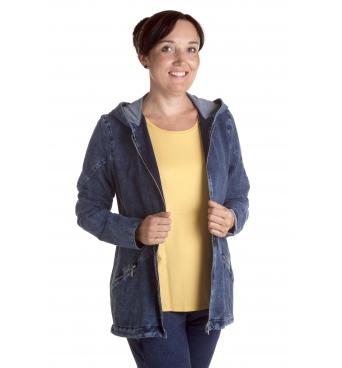 Enriqua star - dámská džínová bunda s kapucou