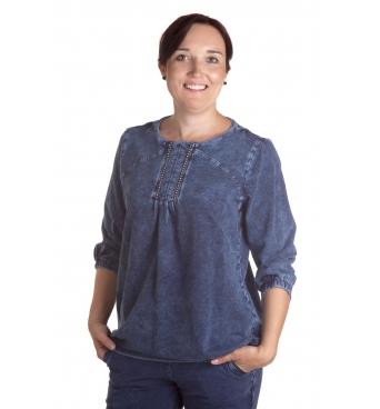 Martyna - dámská džínová tunika s aplikací