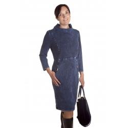 Sali - dámské džínové šaty s rolákem