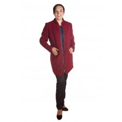 M9076 - dámský podzimní jednobarevný kabát