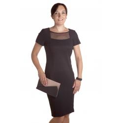 ... K263 - dámské černé společenské šaty 01482fd1e5