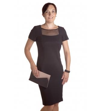 K263 - dámské černé společenské šaty