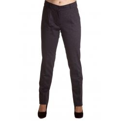 S 96 - dámské kalhoty hnědá kostka