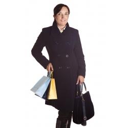 TP 11 - dámský dvouřadý kabát  tmavě modrý