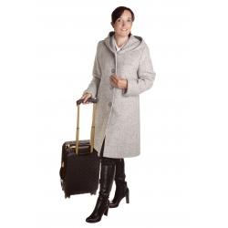 P 3 - dámský flaušový kabát s kapucí