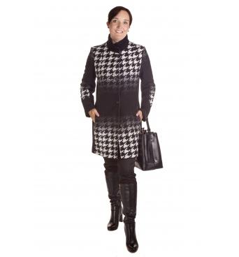 Donata - dámský kabát kohoutí stopa