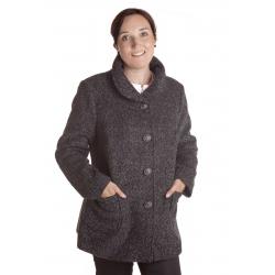 P 4 - dámský kratší flaušový kabát