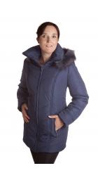 Lisek -dámská zimní bunda s kožíškem