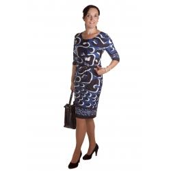 D4779 - dámské šaty modrobílé