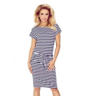 139-2 - dámské šaty námořnický proužek