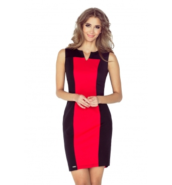 MM006-1 - dámské šaty dvoubarevné