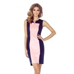 MM006-2- dámské šaty dvoubarevné